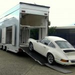 back trailer - left side porsche