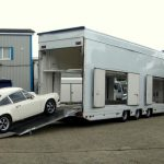 back trailer - right side porsche