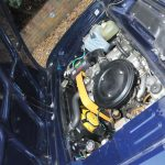 1974 Fiat 124 Sports Coupe engine