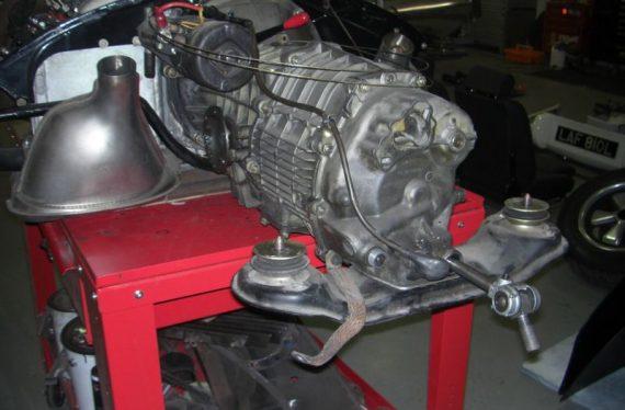 1973 Porsche engine before restoration
