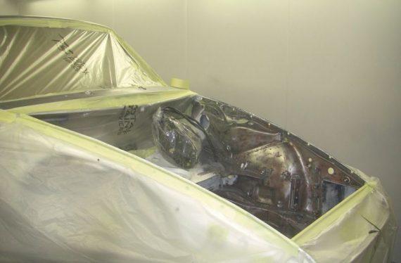 1973 Porsche paint oven process