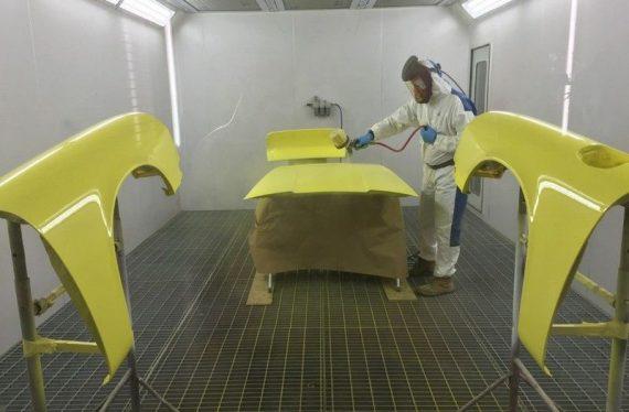 1973 Porsche paint oven processes