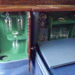 bentley blue train cocktail cabinet
